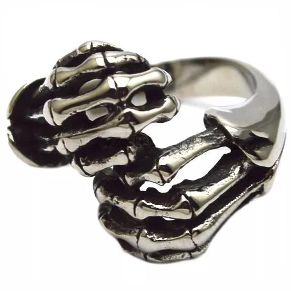 Skull Fingers Biker Ring - Stainless Steel - Biker Jewelry - Biker Ring - R3002-DS