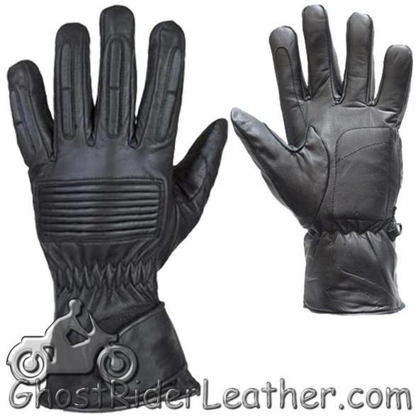 *IRREGULAR* Mens Full Finger Leather Motorcycle Riding Gloves - SKU GRL-GL2099-00-DL