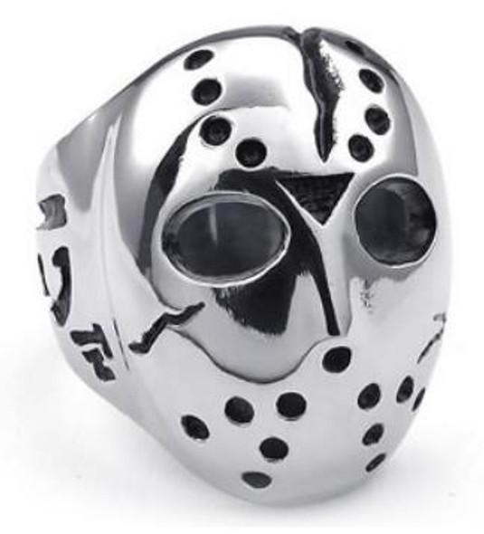 Jason Face Biker Ring - Stainless Steel - Biker Jewelry - Biker Ring - R192-DS