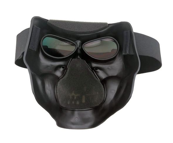 White Skull Full Face Mask - Matte White - Motorcycle Mask - SMWS-DS