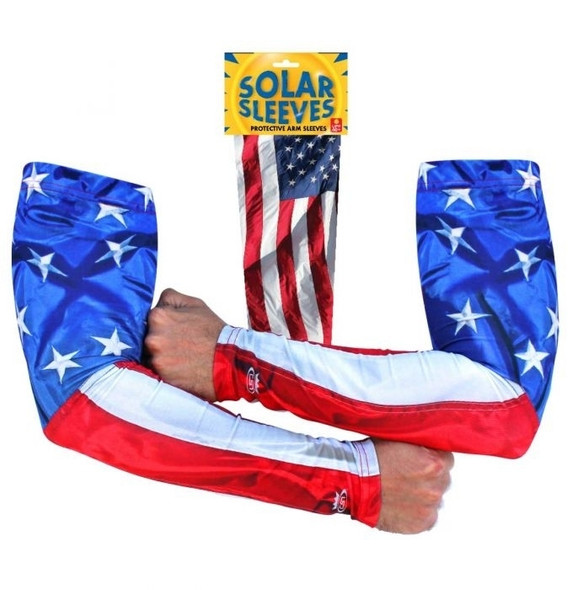 Solar Sleeves - USA Flag - Sun Protection While Riding Motorcycle - SOLSL4-DS