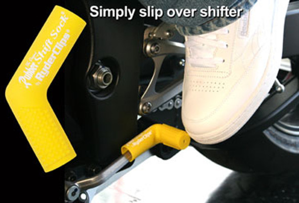 Rubber Shift Sock - Yellow - Motorcycle Accessories - RSS-YELLOW-DS