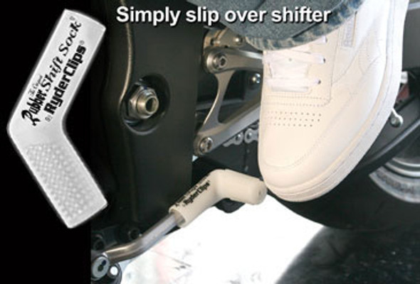 Rubber Shift Sock - Glo White - Motorcycle Accessories - RSS-GLO-WHITE-DS