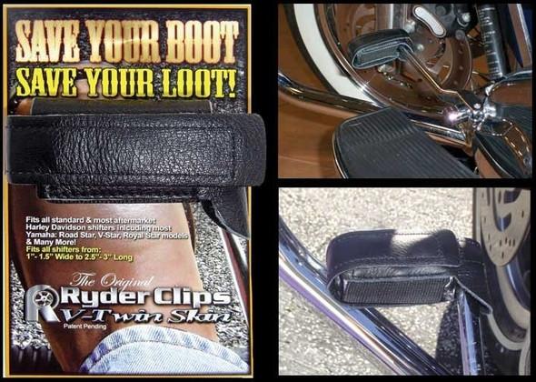 V-Twin Skin - Black- For Harley Davidson Shifters - Motorcycle Accessories - VTSKIN-DS