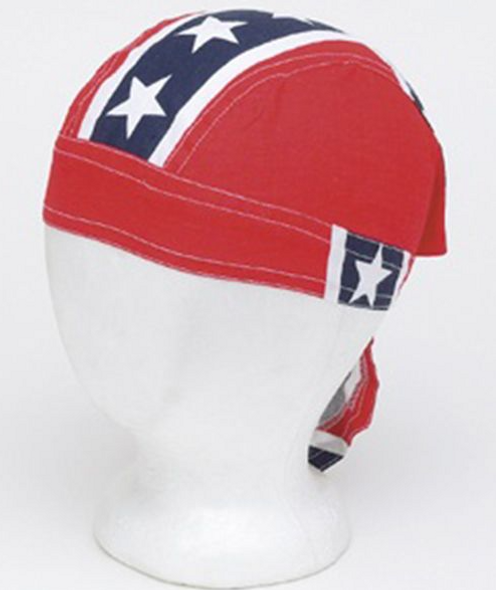 12 Rebel Flag Cotton Skull Caps - Pack of 12 - Durag - AC233-DL