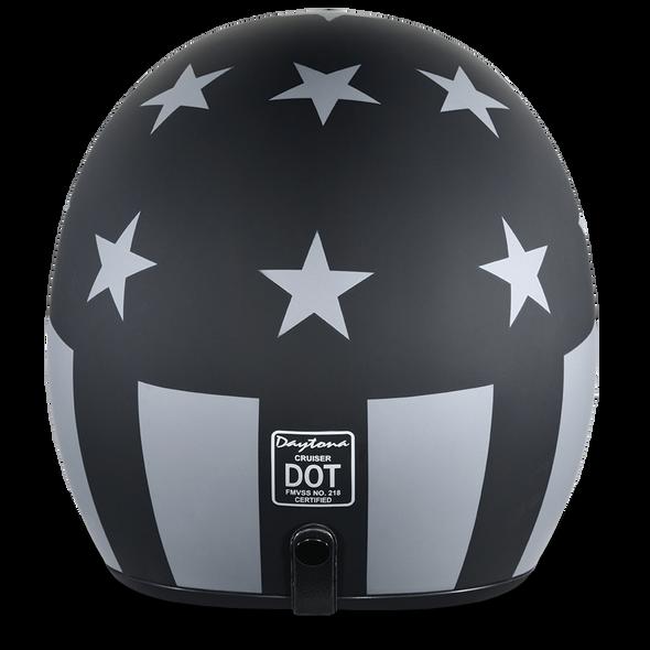 DOT Motorcycle Helmet - Captain America Stealth - Open Face - DC6-CAS-DH