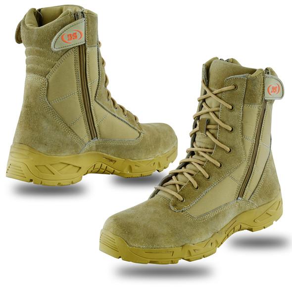 Men's Desert Sand Tactical Boots- SKU DS9783-DS