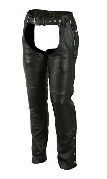 Men's Leather Chaps - Deep Pocket- Unisex - Big - Up To 8XL - DS476-DS