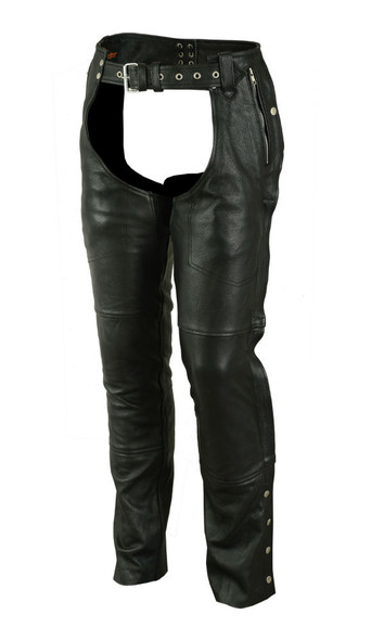Men's Naked Leather Chaps - Deep Pocket- Unisex - Big - Up To 8XL - DS478-DS