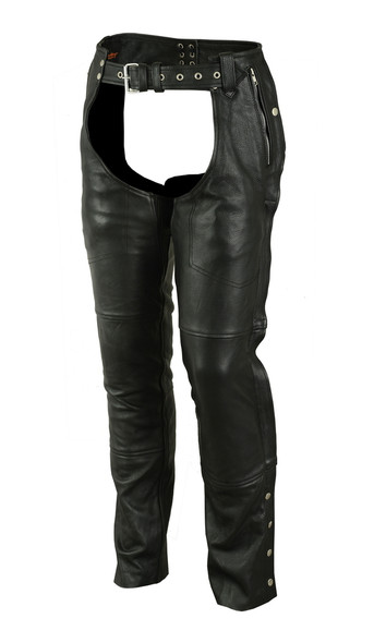 Men's Leather Chaps - Deep Pocket - Unisex - Big - Up To 5XL - DS405-DS