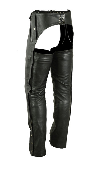 Leather Chaps - Deep Pocket - Unisex - Big - Up To 5XL - DS405-DS
