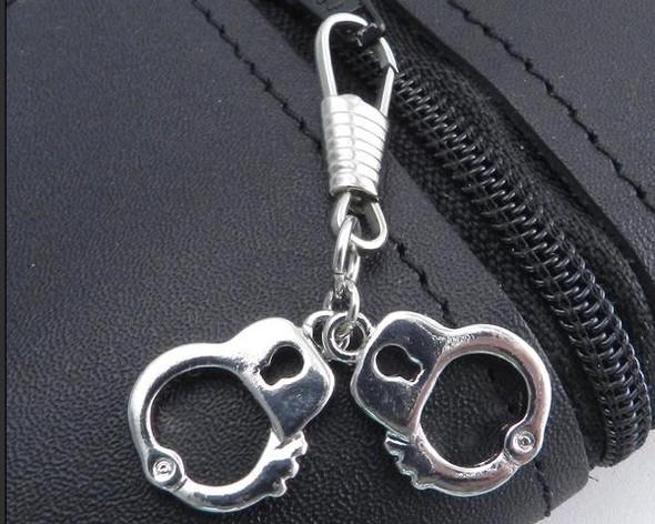 Z-Cuffs Zipper Pull- Mini Cuffs - Chrome - Biker Accessories - Z-CUFFS-DS