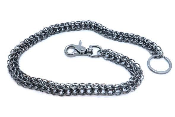 """27"""" - Wallet Chain - Gun Metal - Key Chain Leash - Chain Link - WC17614-DS"""