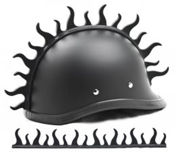 Helmet Mohawk - Warhawk - Flame - Motorcycle Helmet Accessories - J1250-DS