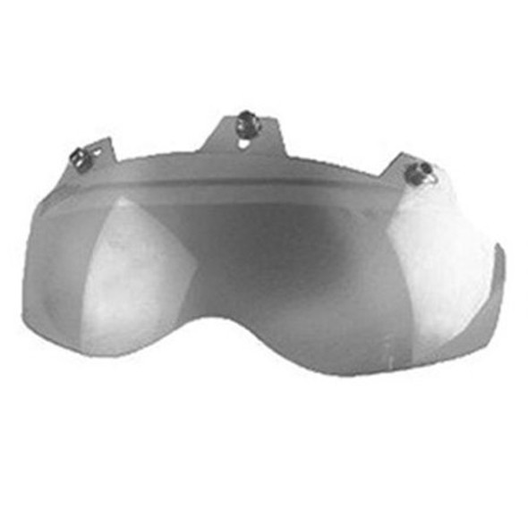 3 Snap Shorty Shield - Hard Coated - Silver Mirror - Motorcycle Helmet Accessories - 02-311-DS