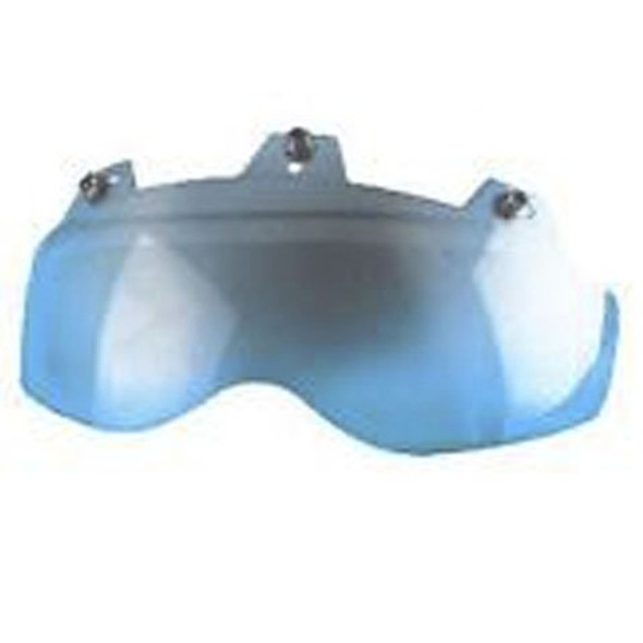 3 Snap Shorty Shield - Hard Coated - Blue Mirror - Motorcycle Helmet Accessories - 02-312-DS