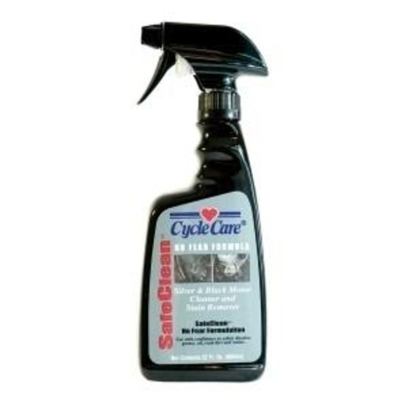 Dealer Leather Cycle Care - SafeClean - Silver and Black Motor Cleaner - 22 oz - Motorcycle Detailing - 15022-DS