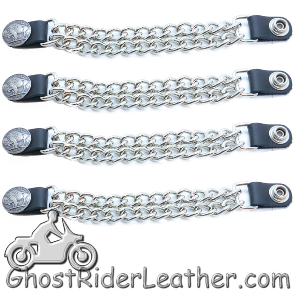 Buffalo Nickel Vest Extenders - Set Of Four - Extra Long - VE101XL-DS