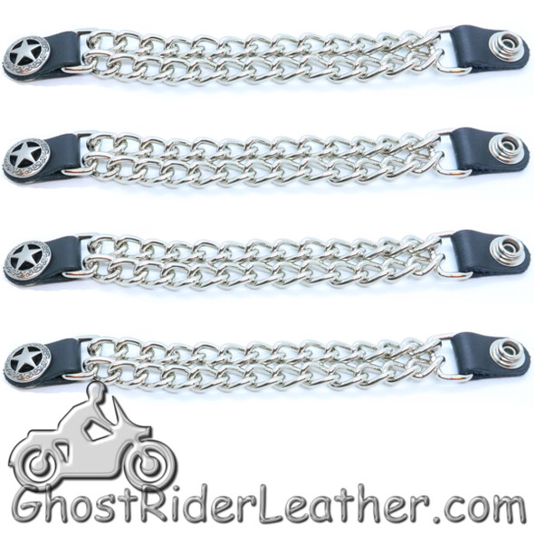 Western Star - Vest Extenders - Set Of Four - Made In USA - Extra Long - VE151XL-DS