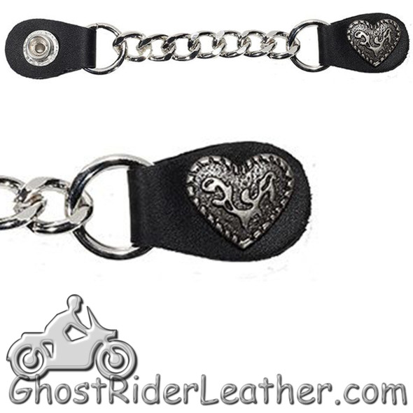 One Single - Fancy Heart Vest Extender with Single Chrome Chain - AC1078-LL-DL-1