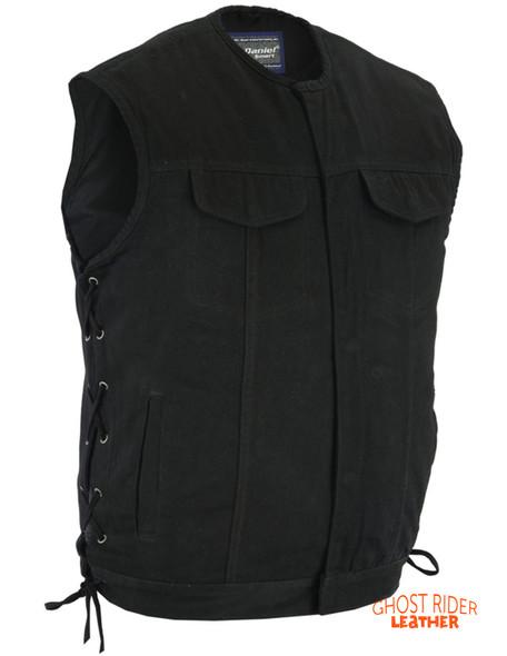 Denim Motorcycle Vest - Upgraded Gun Pockets - Up To 12XL - DM978-DS