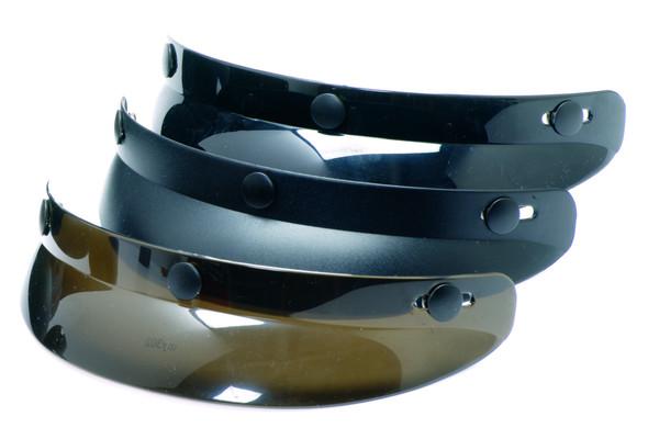 3 Snap Universal Shorty Visor - 3 Colors - Helmet Accessories  - 01-001-DS
