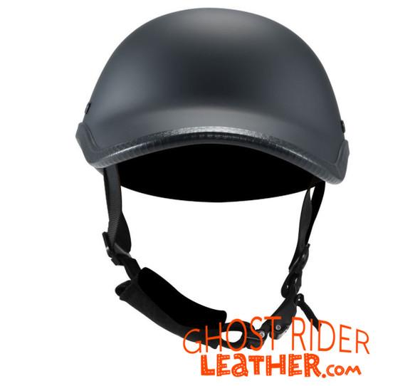 Novelty Motorcycle Helmet - Flat Black - Baseball Cap Style - H512-11-DL