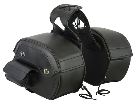 Saddlebags - PVC - Built In Gun Holster - Slanted - Motorcycle Luggage - DS300-DS