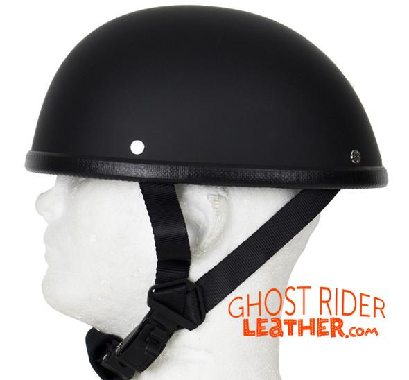 Novelty Motorcycle Helmet - Flat Black - Eagle Style - Shorty - H501-11-DL
