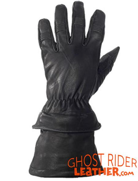 Leather Gloves - Men's - Gauntlet - Riding - Zip Off Cuffs - GLZ63-DL