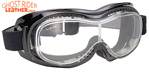 Goggles - Fit Over Eyeglasses - Clear Lens - Motorcycle Eyewear - 9305-CLEAR-DS