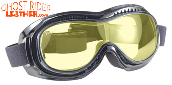 Goggles - Fit Over Eyeglasses - Yellow Lens - Motorcycle Eyewear - 9312-YELLOW-DS