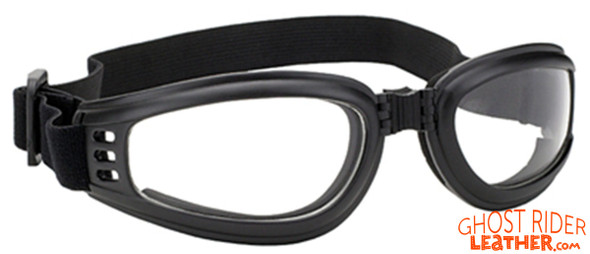 Goggles - Clear Lens - Folding - Motorcycle Eyewear - 4525-CLEAR-DS
