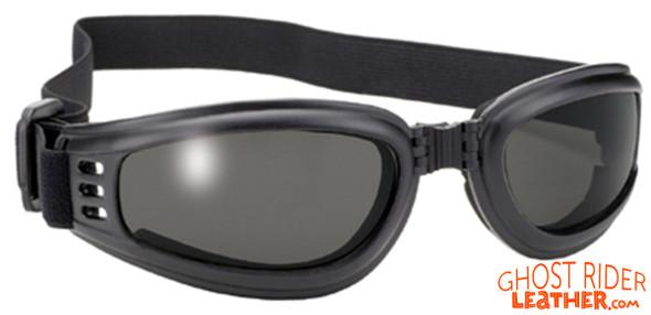 Goggles - Smoke Lens - Folding - Motorcycle Eyewear - 4520-SMOKE-DS