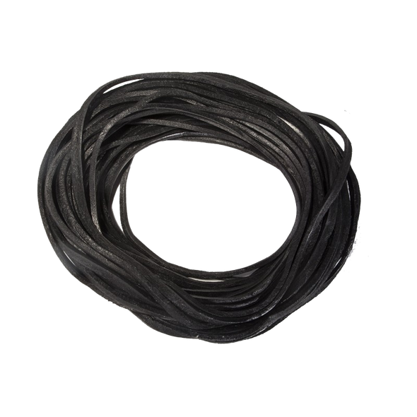 Leather Lacing - Black - 50 Feet - Accessories - CE50-GRL