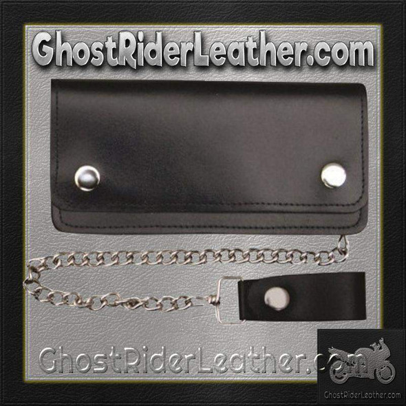 Leather Chain Wallet - 6 Inch Bifold - AL3201-AL