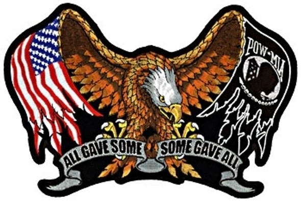All Gave Some - Some Gave All - POW MIA - Vest Patch - Small - PPA1860-HI