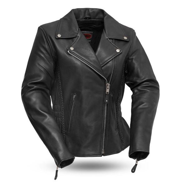 Allure - Women's Figure Flattering Leather Motorcycle Jacket - SKU FIL103MNZ