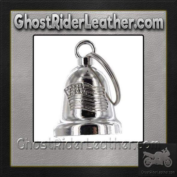 American Flag - Chrome Motorcycle Ride Bell - SKU GRL-BLC21-DL