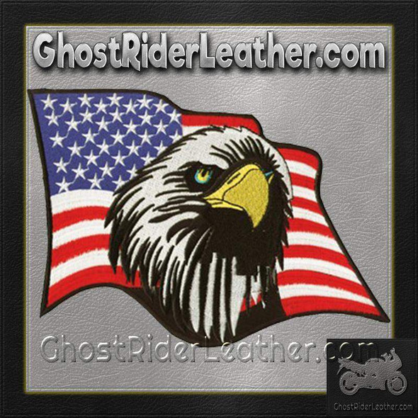 American Flag With An Eagle Head Patch / SKU GRL-PAT-C213-DL