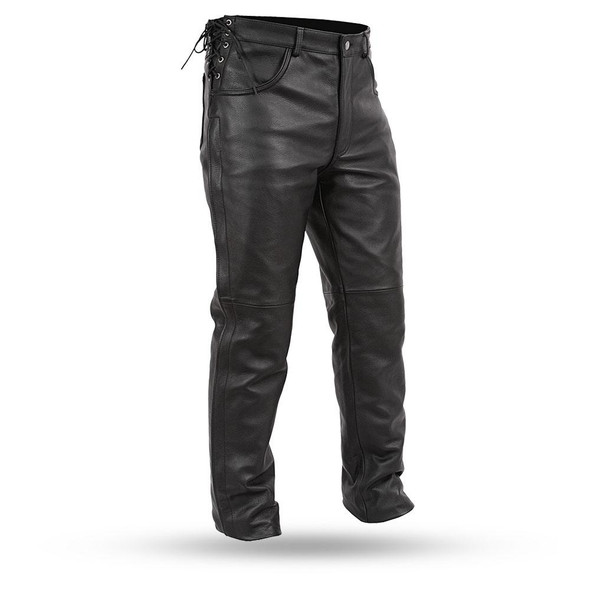 Men's Leather Over Pants - Motorcycle Riding Pants - FIM807CFD-FM