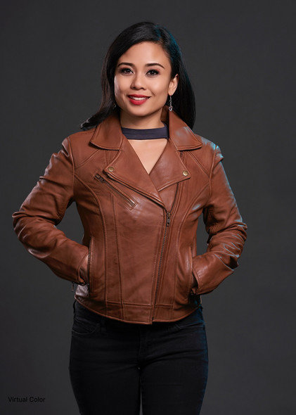 Betsy - Women's Leather Motorcycle Jacket - Choice of Colors - WBL1507