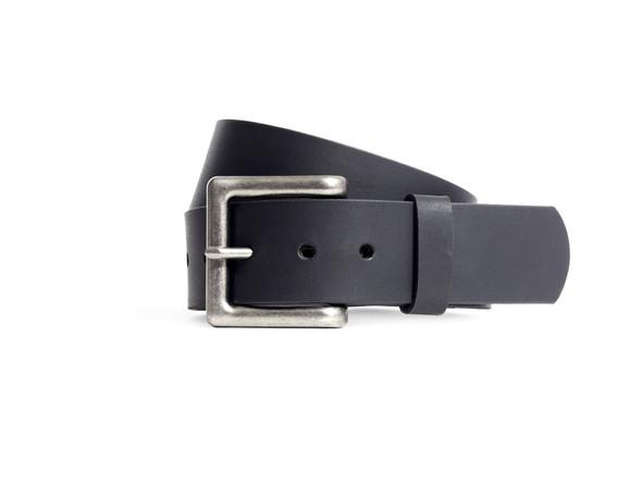 Men's Biker Leather Belt - Black Leather Belt - FIMB16001-FM
