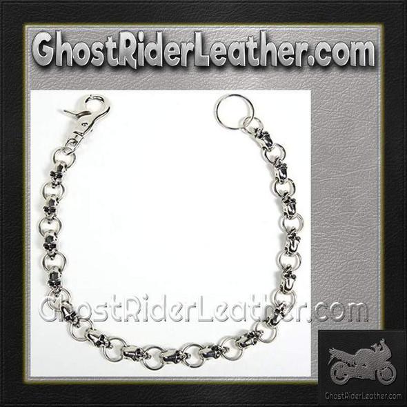 Biker Wallet Chain with Skulls / SKU GRL-WTC10-DL
