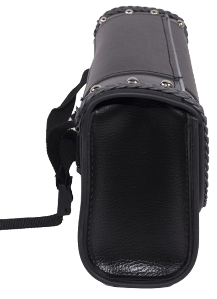 Black and Gray PVC Motorcycle Tool Bag - Fork Bag 10 or 12 Inch - SKU TB3030-DL