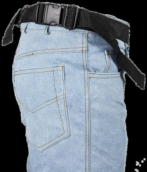 Black Leather Multi Pocket Thigh Bag with Gun Pocket - SKU AC1025-11-DL