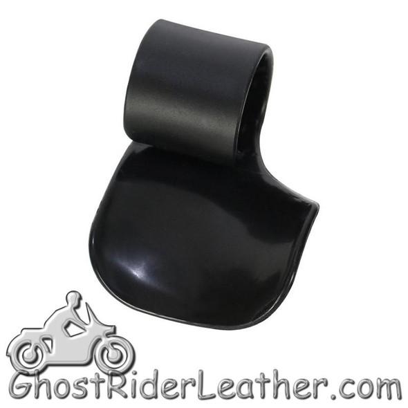 Black Plastic Motorcycle Handlebar Wrist Rests - You Get Two - GRL-AC150-DL