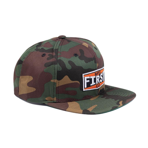 Camo Logo Hat - Ball Cap - First MFG Company - SKU BF6089CM-FM