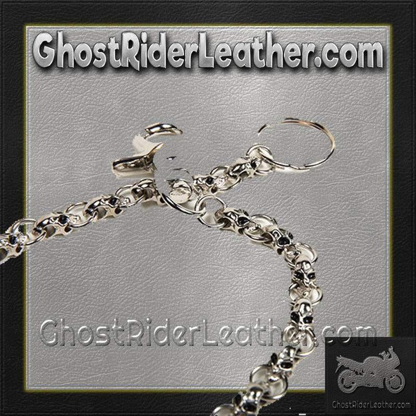 Chain with Skulls, Great Addition to your Wallet / SKU GRL-WTC8-DL