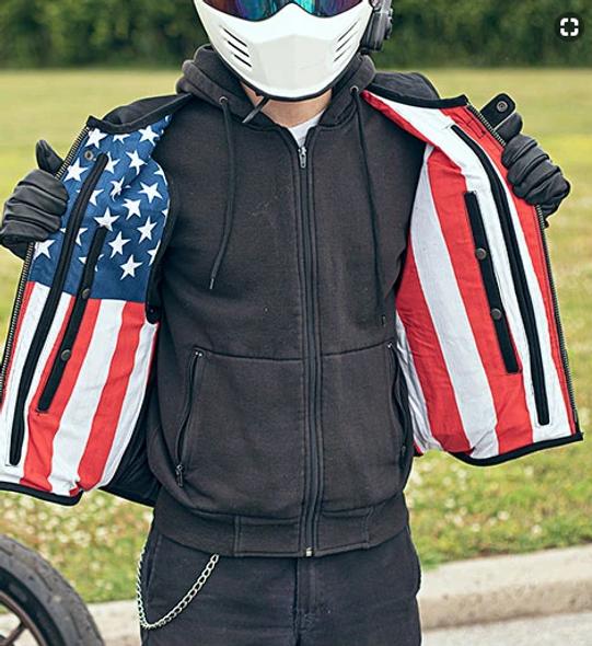 Commando - Men's Swat Style Canvas Vest With USA Flag Liner - SKU GRL-FIM657CNVS-FM